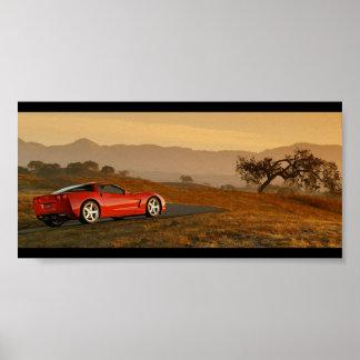 Deserto de Chevrolet Corvette C6 Pôster