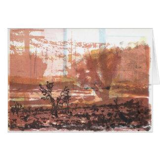 Deserto de Mojave do cartão da arte da árvore de