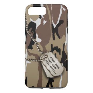 Deserto militar Camo com Tag de cão Capa iPhone 7 Plus