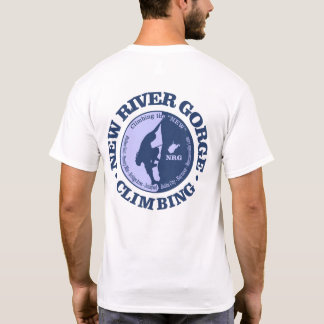 Desfiladeiro novo do rio (escalar) camiseta