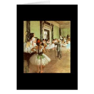 Desgaseifique - a classe de dança do balé cartão de nota