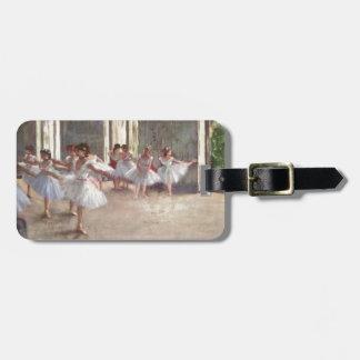 Desgaseifique dançarinos de balé etiqueta de mala