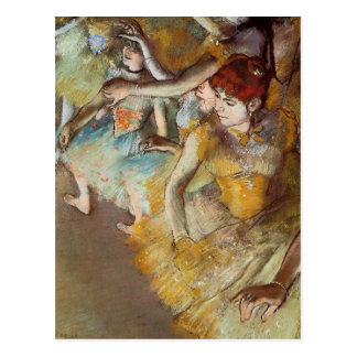 Desgaseifique dançarinos de balé no cartão do cartão postal