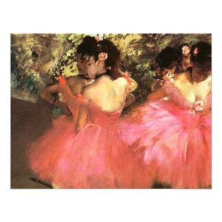 Desgaseifique dançarinos em convites cor-de-rosa