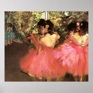 Desgaseifique dançarinos no poster cor-de-rosa pôster