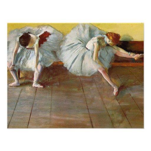 Desgaseifique dois convites dos dançarinos de balé