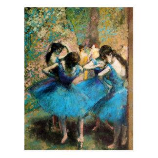 Desgaseifique o cartão azul dos dançarinos cartão postal