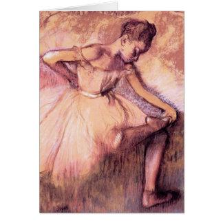 Desgaseifique o cartão cor-de-rosa da bailarina