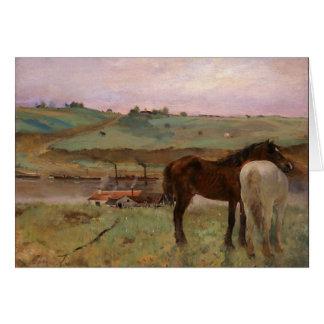 Desgaseifique o cartão das belas artes dos cavalos