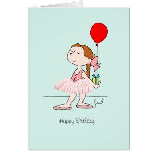 Desgaseifique o cartão pequeno do aniversário do