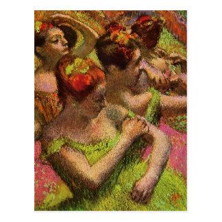 Desgaseifique o cartão verde das bailarinas cartão postal