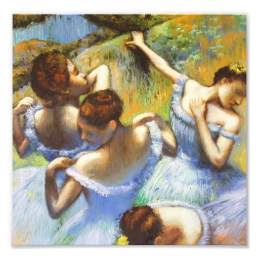 Desgaseifique o impressão azul da foto dos dançari