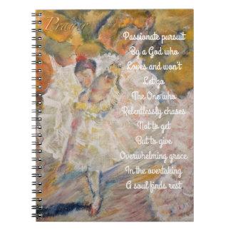 Desgaseifique o jornal inspirado da oração cadernos espiral