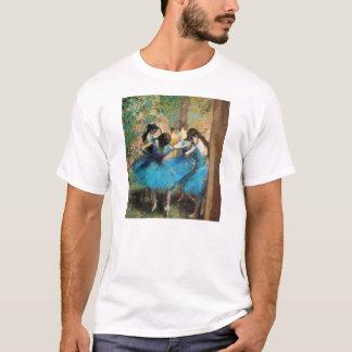 Desgaseifique o t-shirt azul dos dançarinos camiseta