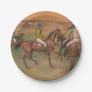 Desgaseifique os cavalos de raça impressionista prato de papel