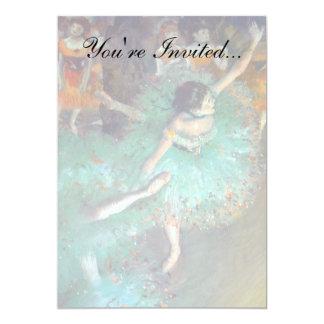 Desgaseifique - os dançarinos verdes convite 12.7 x 17.78cm