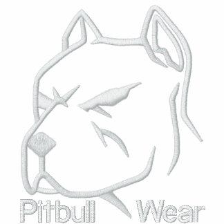 Desgaste de Pitbull Moletom Com Capuz E Ziper Bordado