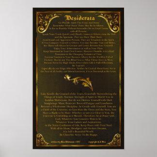 DESIDERATA Ehrmann-11x17-Gold Poster-Máximo barroc