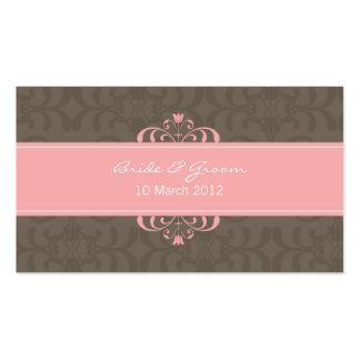 DESIGN 04 - Cor: Rosa & chocolate Cartão De Visita
