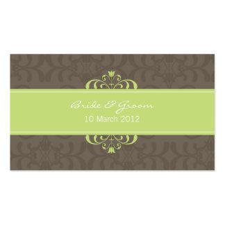 DESIGN 04 - Cor Verde chocolate Cartão De Visita