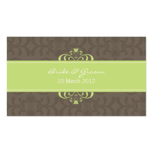 DESIGN 04 - Cor: Verde & chocolate Cartão De Visita