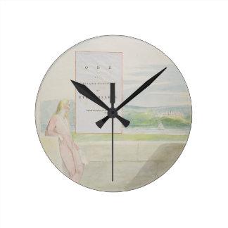 Design 13 para 'o ode em uma perspectiva distante  relógios de pendurar