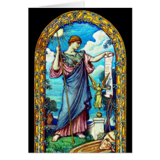 Design 1896 do mosaico de Minerva Cartão Comemorativo