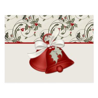 Design 1 de Bels do feriado - cartão do Natal Cartões Postais