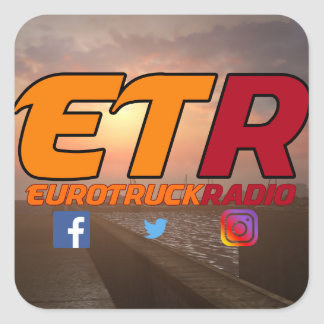 Design #1 do bloco da etiqueta de EuroTruckRadio