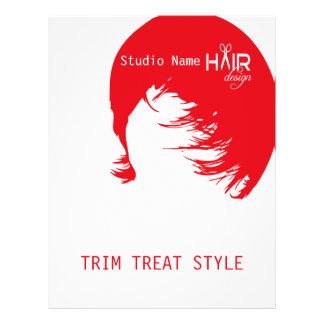 Design 1 do cabelo - insecto, fixando o preço panfleto personalizados