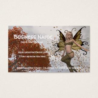 Design 1 do país das fadas da queda - cartão de