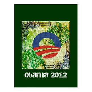 Design 2012 da reeleição de Obama do Grunge de Eco Cartão Postal
