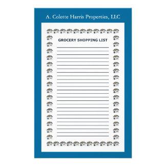 Design 2 da almofada de nota do mantimento papelaria