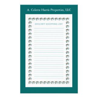 Design 3 da almofada de nota do mantimento papelaria