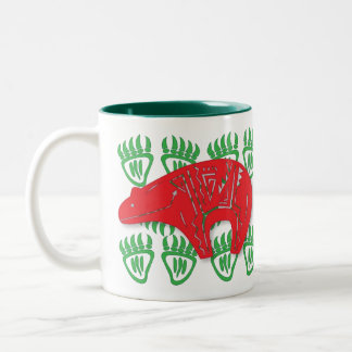 Design 3 da caneca do Petroglyph do urso