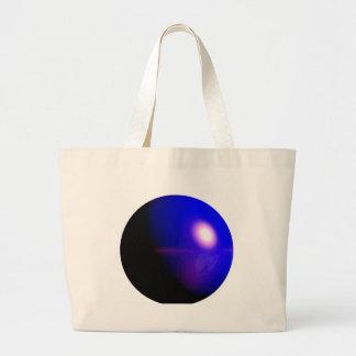 Design 3D azul do planeta Bolsas De Lona