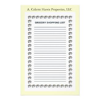 Design 4 da almofada de nota do mantimento papelaria