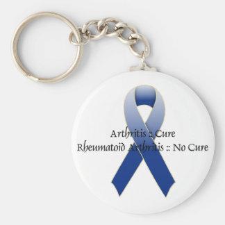 Design 4 da consciência da fita azul da artrite chaveiro