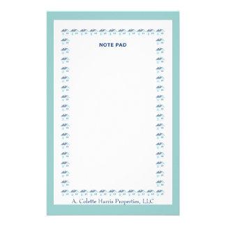 Design 6 da almofada de nota papelaria