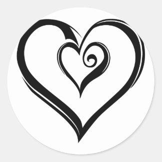 Design aberto dos corações adesivo