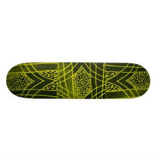 Design abstrato #1 preto/amarelo skate