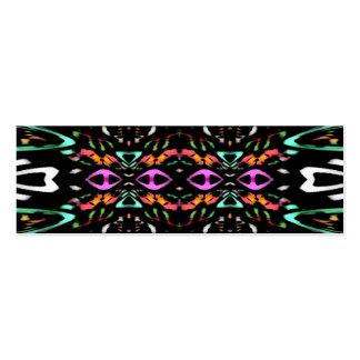 Design abstrato colorido Arte do teste padrão de Modelos Cartão De Visita
