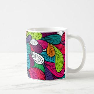 Design abstrato colorido caneca de café