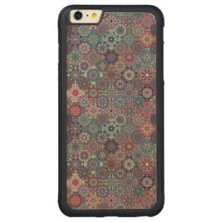 Design abstrato colorido do teste padrão do capa bumper para iPhone 6 plus de bordo, carved