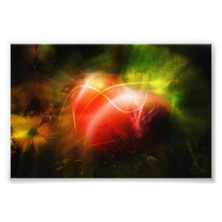 Design abstrato da arte do coração impressão de foto