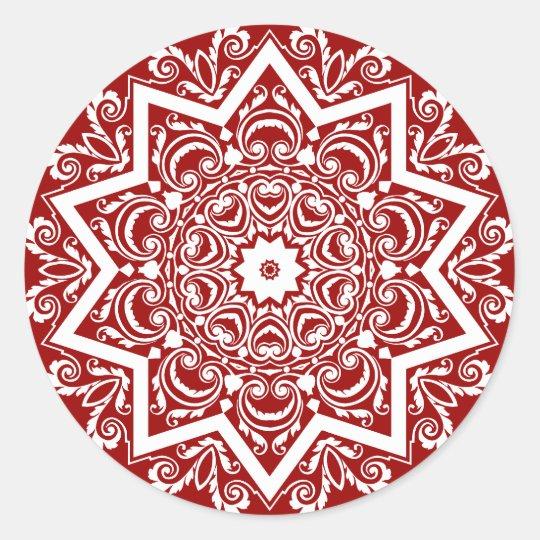 Como Fazer Artesanato Reciclagem De Garrafa Pet ~ Design abstrato da mandala adesivo redondo Zazzle