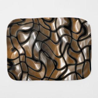 Design abstrato do mar de Brown Fraldinha De Boca