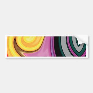 Design abstrato em redemoinhos da pintura adesivo