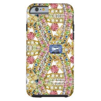 Design abstrato Jeweled Capa Tough Para iPhone 6