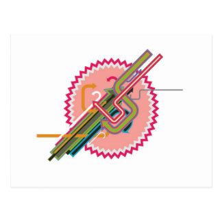 Design abstrato legal cartão postal